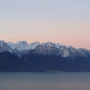 Dawn of 2013 on Lake Geneva